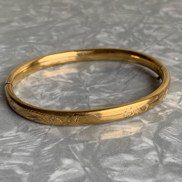 11085c427fa Vintage Jewelry   Embossed Lightweight Gold Bracelet   Poshmark